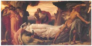フレデリック・レイトン – アルケスティスを取り戻すために死と闘うヘラクレス (Frederick Lord Leightonより)のサムネイル画像