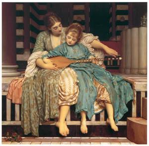 フレデリック・レイトン – 音楽のおけいこ (Frederick Lord Leightonより)のサムネイル画像