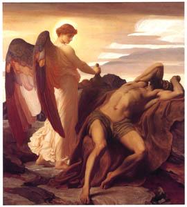 フレデリック・レイトン – 荒野のエリヤ (Frederick Lord Leightonより)のサムネイル画像