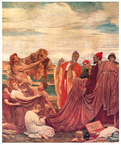 thumbnail Frederic Leighton – Phoenicians Bartering with Ancient Britons [from Frederick Lord Leighton]