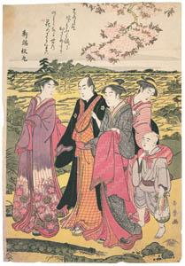 喜多川歌麿 – 行楽の図 (浮世絵聚花 ボストン美術館3 歌麿より)のサムネイル画像
