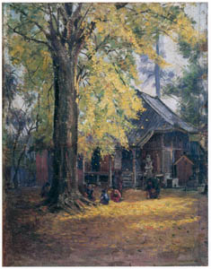 thumbnail Wada Eisaku – On the Grounds of a Hachiman Shrine in Autumn [from Retrospective Exhibition of Wada Eisaku]