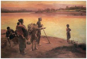 thumbnail Wada Eisaku – Evening at the Ferry [from Retrospective Exhibition of Wada Eisaku]
