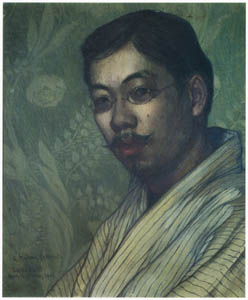 thumbnail Wada Eisaku – Portrait of Yasushi Tsukamoto [from Retrospective Exhibition of Wada Eisaku]