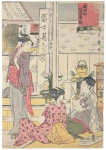 喜多川歌麿 – 富士見茶屋の店先 [右] (浮世絵聚花 ボストン美術館3 歌麿より)のサムネイル画像