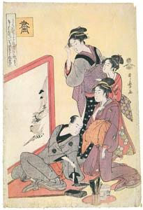 喜多川歌麿 – 琴棋書画・画 (浮世絵聚花 ボストン美術館3 歌麿より)のサムネイル画像