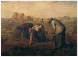 """thumbnail Wada Eisaku – Copy after """"The Gleaners"""" by Jean-Francois Millet [from Retrospective Exhibition of Wada Eisaku]"""