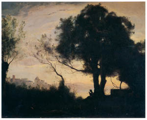 """thumbnail Wada Eisaku – Copy after """"Reminiscence of Castel Gandolfo"""" by Camille Corot [from Retrospective Exhibition of Wada Eisaku]"""