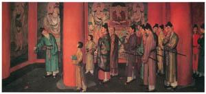 thumbnail Wada Eisaku – Inauguration of Murals in Hōryūji Temple [from Retrospective Exhibition of Wada Eisaku]