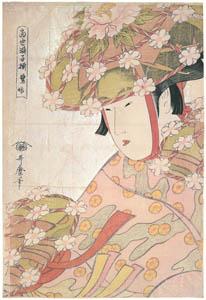 喜多川歌麿 – 当世踊子揃・鷺娘 (浮世絵聚花 ボストン美術館3 歌麿より)のサムネイル画像