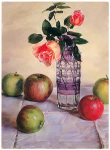 和田英作 – バラとリンゴ (和田英作展より)のサムネイル画像