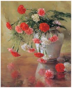 thumbnail Wada Eisaku – Flowers of the Jakounadeshiko Carnation [from Retrospective Exhibition of Wada Eisaku]