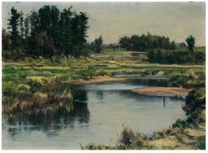 thumbnail Wada Eisaku – The Shore of Aizuma River [from Retrospective Exhibition of Wada Eisaku]