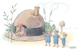 エルサ・ベスコフ – 挿絵2 (ぼうしのおうちより)のサムネイル画像