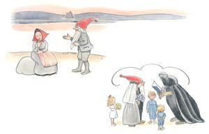 エルサ・ベスコフ – 挿絵15 (ぼうしのおうちより)のサムネイル画像