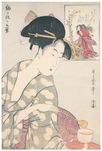 喜多川歌麿 – 梅が枝が言葉 (浮世絵聚花 ボストン美術館3 歌麿より)のサムネイル画像