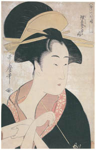 thumbnail Kitagawa Utamaro – The Habit of Looking Clever, from the series Seven Bad Habits [from Ukiyo-e shuka. Museum of Fine Arts, Boston III]