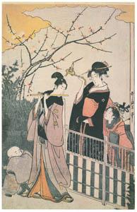 thumbnail Kitagawa Utamaro – A Modern Version of the Concert of Ushiwakamaru and Jôruri-hime (Left) [from Ukiyo-e shuka. Museum of Fine Arts, Boston III]