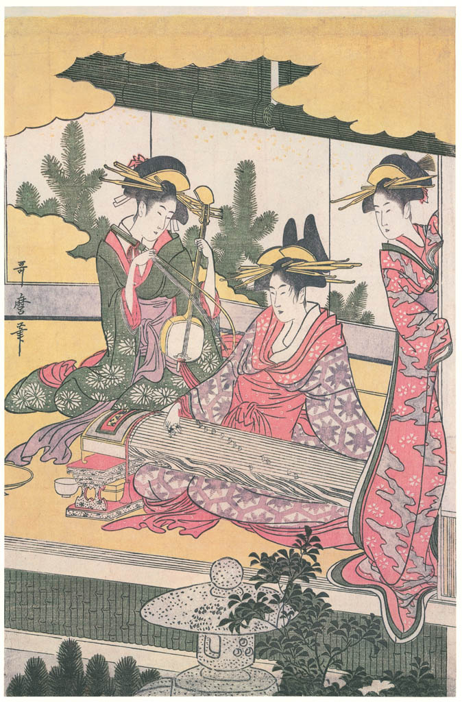 Kitagawa Utamaro – A Modern Version of the Concert of Ushiwakamaru and Jôruri-hime (Right) [from Ukiyo-e shuka. Museum of Fine Arts, Boston III]