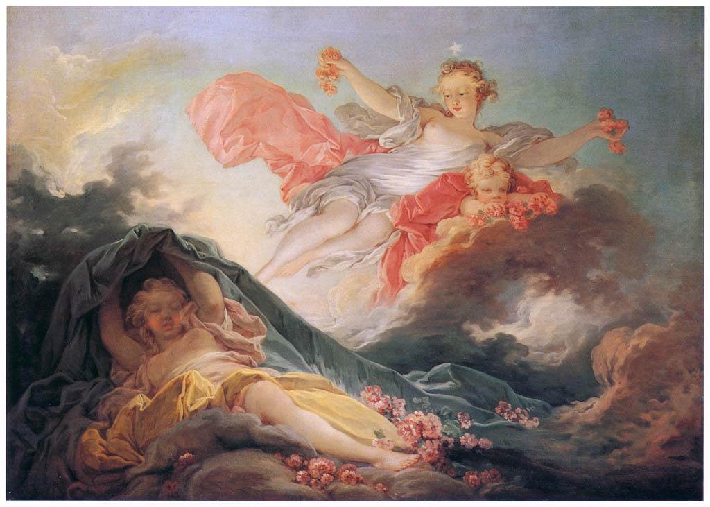 Jean-Honoré Fragonard – VENUS AWAKENING / DAWN [from Fragonard]