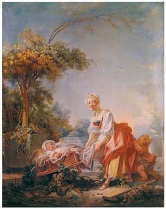 ジャン・オノレ・フラゴナール – 女庭師 (フラゴナール展 図録より)のサムネイル画像