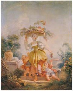 ジャン・オノレ・フラゴナール – ぶどう摘みの女 (フラゴナール展 図録より)のサムネイル画像