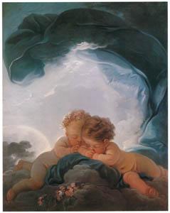 ジャン・オノレ・フラゴナール – 夜 (フラゴナール展 図録より)のサムネイル画像