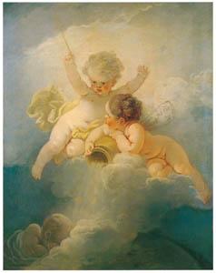 ジャン・オノレ・フラゴナール – 黄昏 (フラゴナール展 図録より)のサムネイル画像