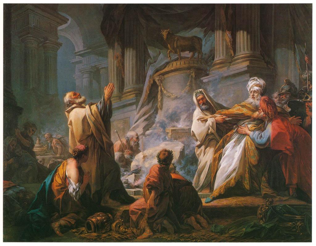 Jean-Honoré Fragonard – JEROBOAM SACRIFICING TO THE GOLDEN CALF [from Fragonard]