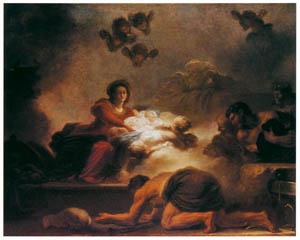 ジャン・オノレ・フラゴナール – 牧者礼拝 (フラゴナール展 図録より)のサムネイル画像