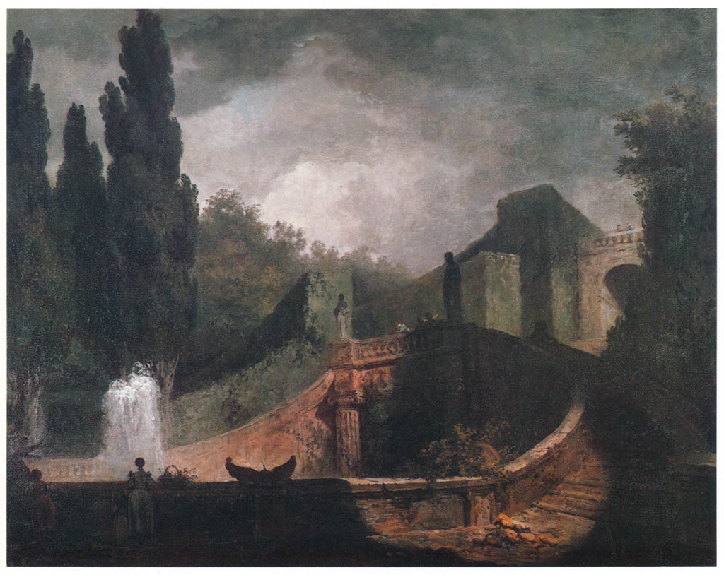 Jean-Honoré Fragonard – STEPS OF THE VILLA D'ESTE AT TIVOLI [from Fragonard]