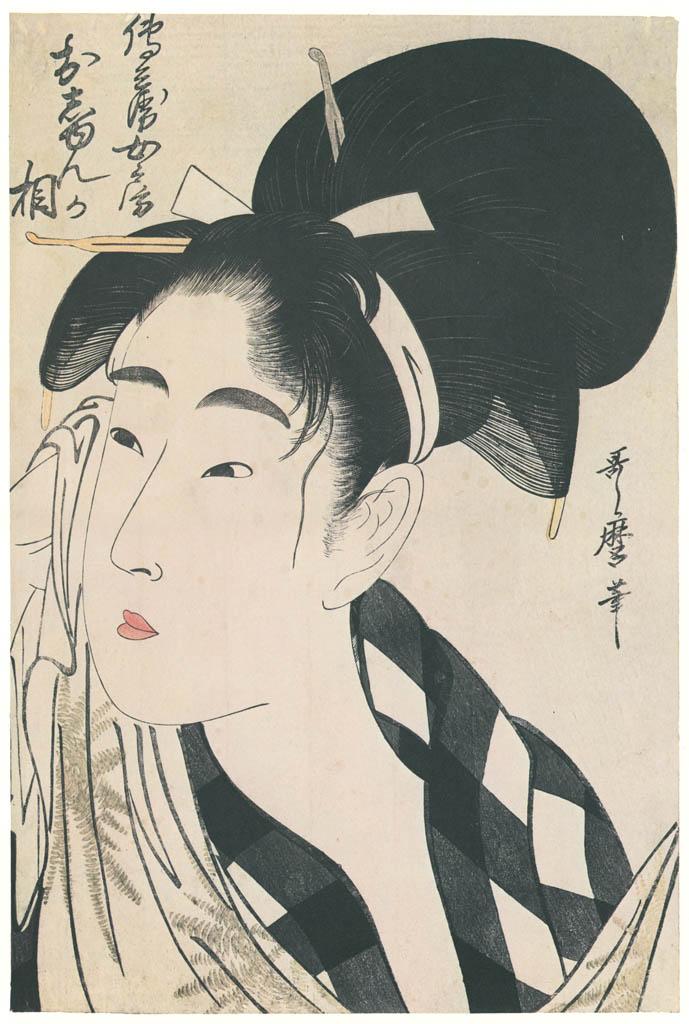 Kitagawa Utamaro – The Face of Oshun, Wife of Denbei [from Ukiyo-e shuka. Museum of Fine Arts, Boston III]