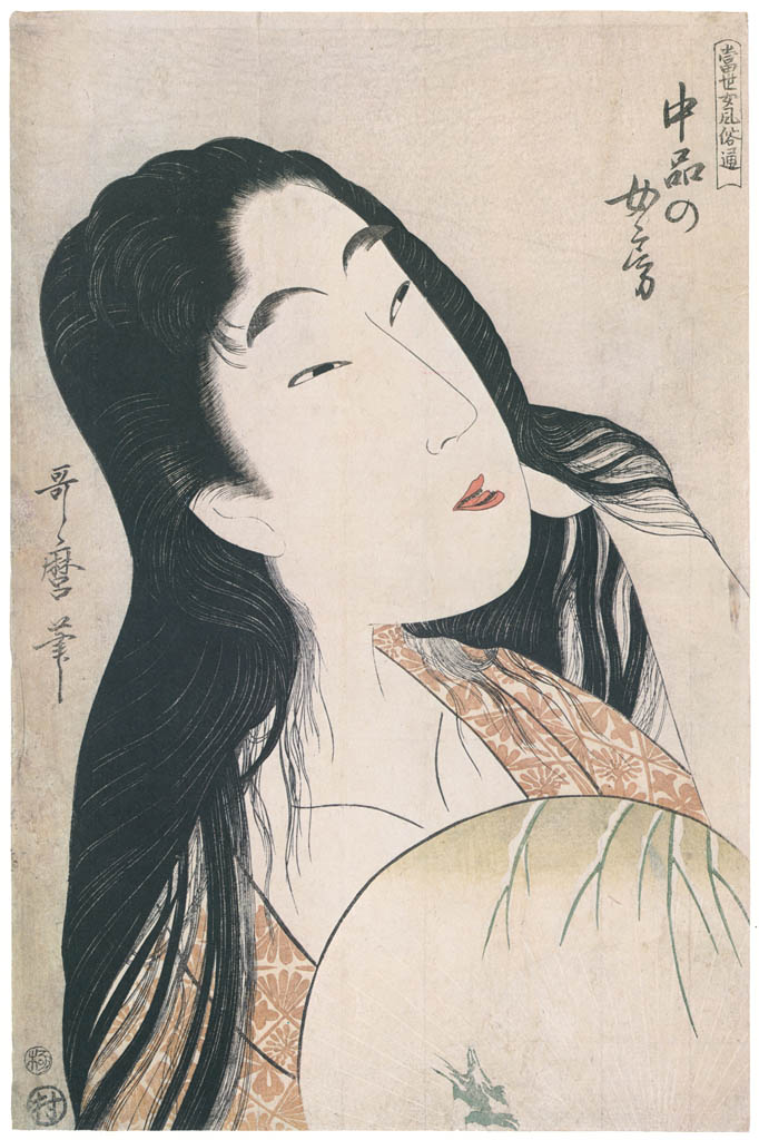 Kitagawa Utamaro – A Wife of the Middle Rank, from the series A Guide to Women's Contemporary Styles [from Ukiyo-e shuka. Museum of Fine Arts, Boston III]
