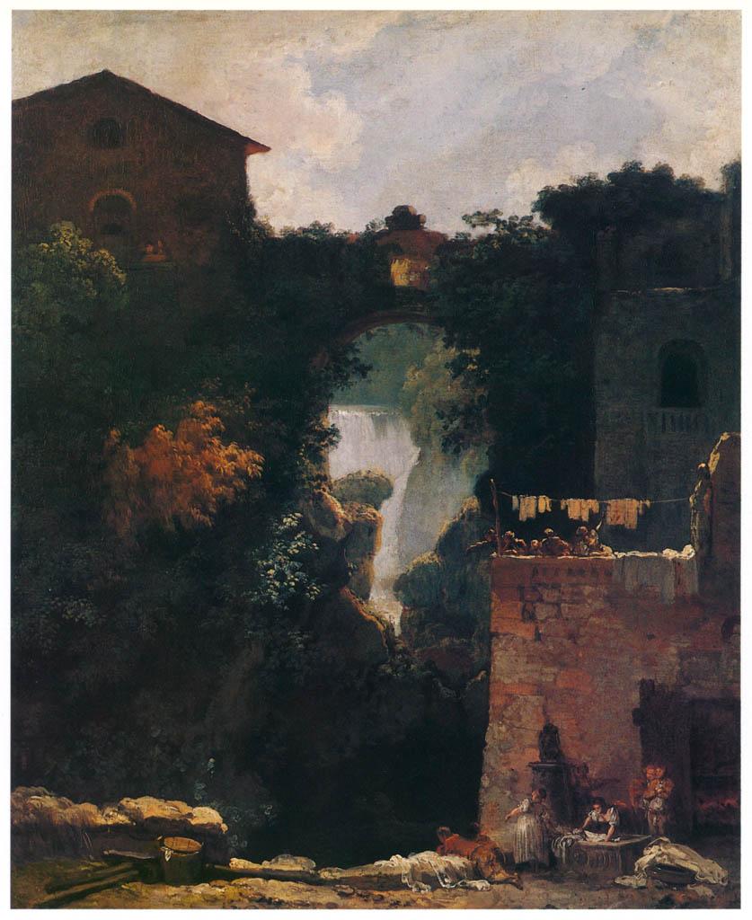 Jean-Honoré Fragonard – THE WATERFALLS AT TIVOLI [from Fragonard]