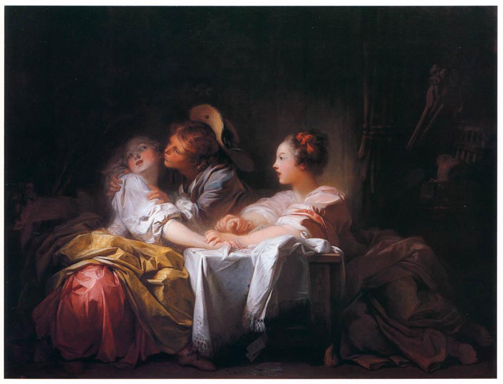 Jean-Honoré Fragonard – THE LOST FORFEIT / STOLEN KISS [from Fragonard]