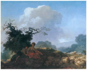 thumbnail Jean-Honoré Fragonard – LANDSCAPE WITH ANNETTE AND LUBIN / ANNETTE AT THE AGE OF TWENTY [from Fragonard]