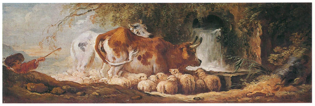 Jean-Honoré Fragonard – THE WATERING-PLACE [from Fragonard]