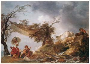 ジャン・オノレ・フラゴナール – 木の橋 (フラゴナール展 図録より)のサムネイル画像