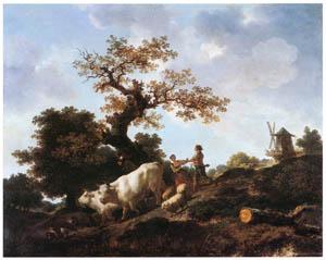 ジャン・オノレ・フラゴナール – 放牧を終えて (フラゴナール展 図録より)のサムネイル画像