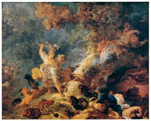 ジャン・オノレ・フラゴナール – 魔法の森のリナルド (フラゴナール展 図録より)のサムネイル画像