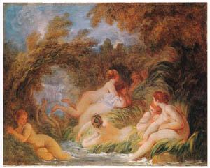 thumbnail Jean-Honoré Fragonard – THE BATHERS [from Fragonard]