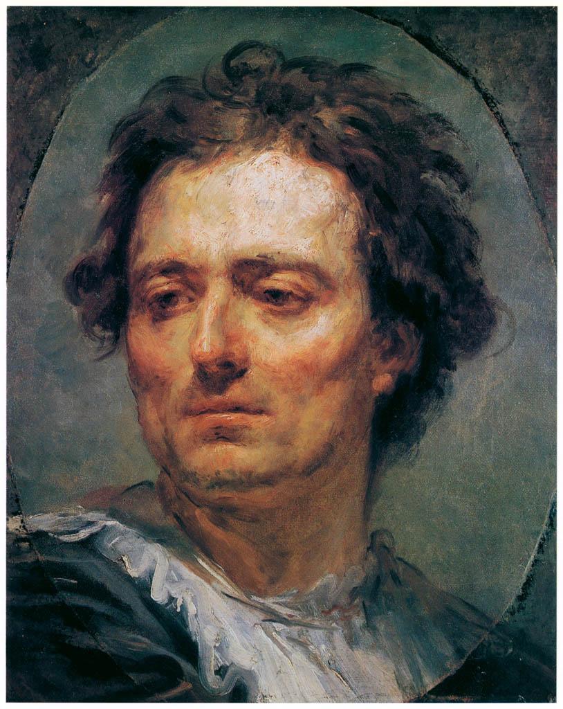 Jean-Honoré Fragonard – STUDY OF A MALE HEAD [from Fragonard]