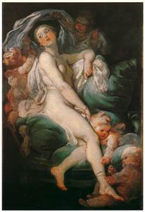 ジャン・オノレ・フラゴナール – 化粧するヴィーナス (フラゴナール展 図録より)のサムネイル画像