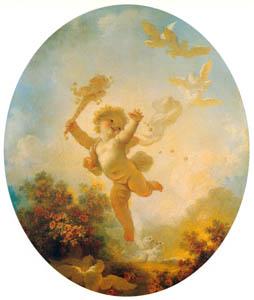 ジャン・オノレ・フラゴナール – はしゃぎまわるキューピッド (フラゴナール展 図録より)のサムネイル画像