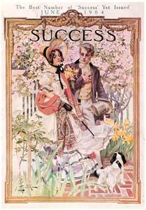 J・C・ライエンデッカー – 庭園の散歩 [1904年6月号のサクセスマガジンの表紙] (The J. C. Leyendecker Poster Bookより)のサムネイル画像