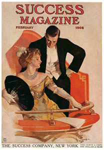 thumbnail J. C. Leyendecker – Success Magazine cover. February 1908. [from The J. C. Leyendecker Poster Book]