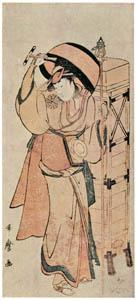 thumbnail Kitagawa Utamaro – Actor Nakamura Noshio II as a Rokubu Pilgrim [from Ukiyo-e shuka. Museum of Fine Arts, Boston III]