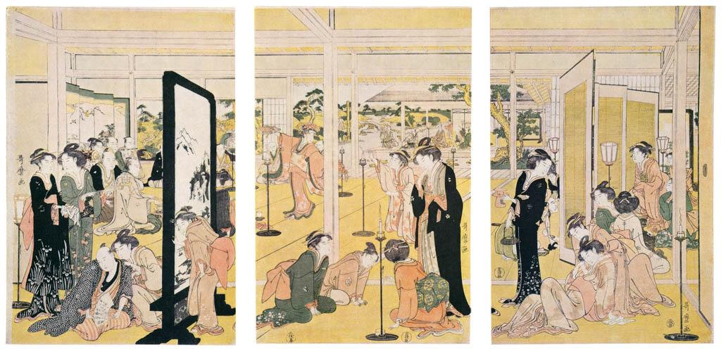 Kitagawa Utamaro – Santô Kyôden at a Daimyô's Mansion [from Ukiyo-e shuka. Museum of Fine Arts, Boston III]