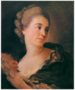 thumbnail Jean-Honoré Fragonard – PORTRAIT OF MADEMOISELLE COLOMBE [from Fragonard]
