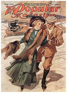 J・C・ライエンデッカー – 1909年3月号のポピュラー・マガジンの表紙 (The J. C. Leyendecker Poster Bookより)のサムネイル画像